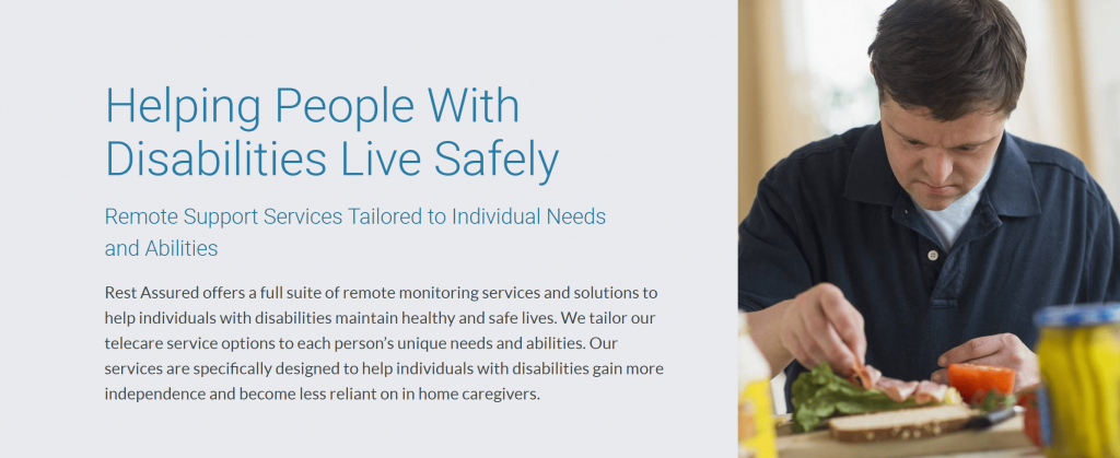 Rest assured provides remote support for people with disabilities